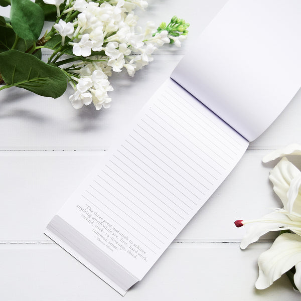 T609H Marble Pad A Great Thought A Day - White 1 front