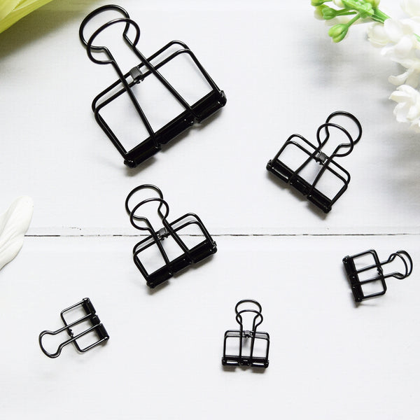 Up & Atem UA-BINDSET-BLK Binder Clip Set - Black 1