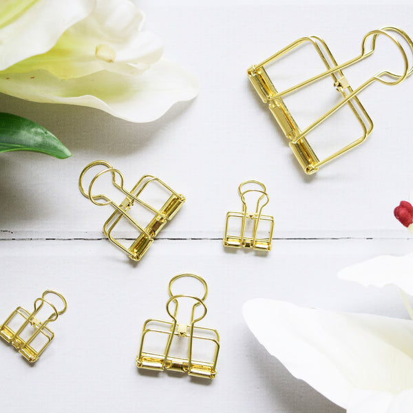 Up & Atem UA-BINDSET-GOLD Binder Clip Set - Gold 1
