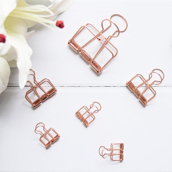 Up & Atem UA-BINDSET-ROSE Binder Clip Set - Rose Gold 1