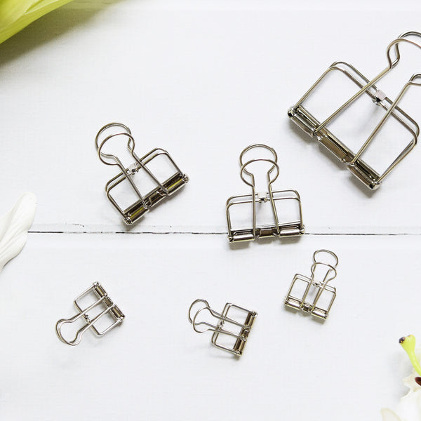 Up & Atem UA-BINDSET-SILV Binder Clip Set - Silver 1