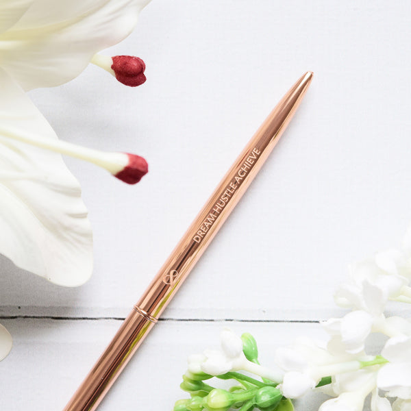 Dream Hustle Achieve Pen - Rose Gold