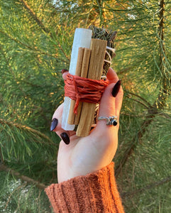 Harvest Blessings - Juniper, Palo Santo, Cinnamon & Selenite - Limited Edition Cleansing Bundle