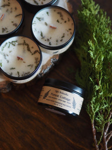 Forest Cottage - Pine Needle & Sage - Wood Wick Soy Candle - Limited Edition