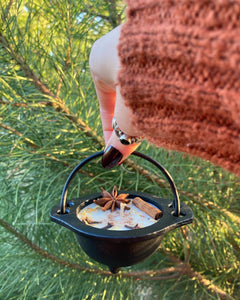 Cinnamon Brew - Mini Cast Iron Cauldron Candle