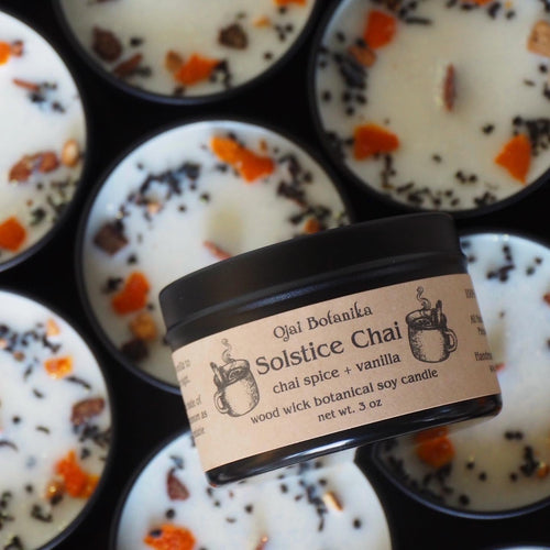Solstice Chai - Chai Spice & Vanilla - Wood Wick Soy Candle - Limited Edition