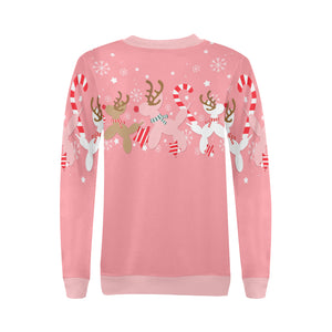 Pink Reindeer Balloon Dog Sweatshirt