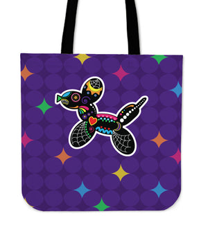 Balloon Dog Sugar Skull Tote Bag
