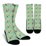Classic Balloon Animals on Mint Crew Socks