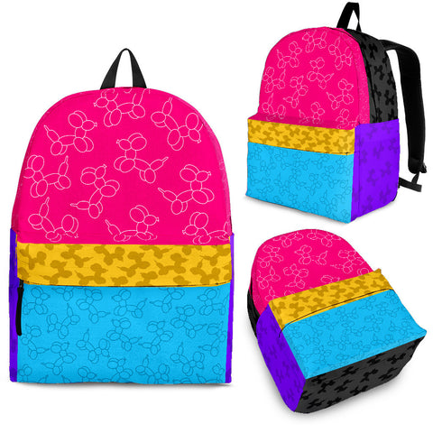 Balloon Dog Color Block Backpack - Express Delivery