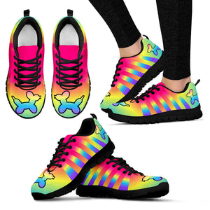 Women's Rainbow Dog Sneakers