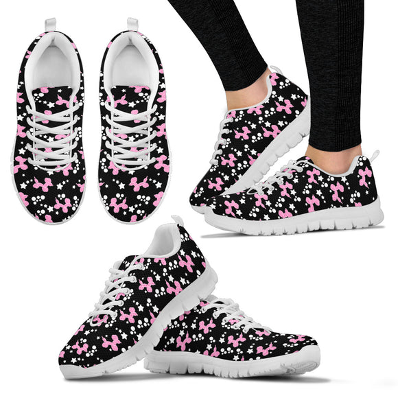 Pink Dogs & Stars Women's Sneakers