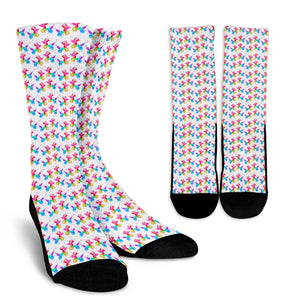 Watercolor Dog Crew Socks