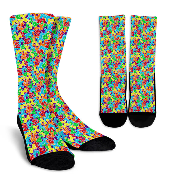Jam Room Floor Crew Socks