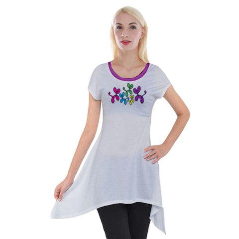 Swirly Pups Simple Tunic - Black or Gray
