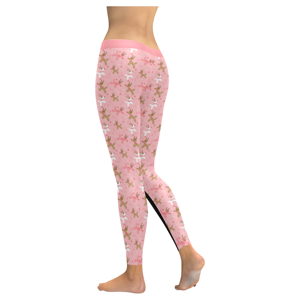 Pink Reindeer Balloon Dog Leggings