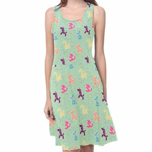 Classic Animals in Mint Sleeveless Sundress