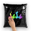Pop Parade Balloon Animal Sequin Pillow