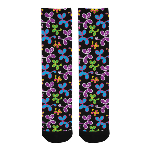 Swirly Pups Socks