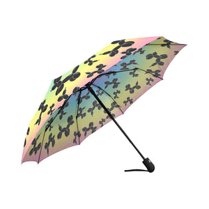 Rainbow Dogs Auto-Fold Umbrella