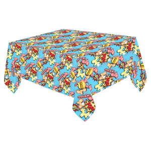 "Comic Dogs Cotton Linen Tablecloth 52""x 70"""