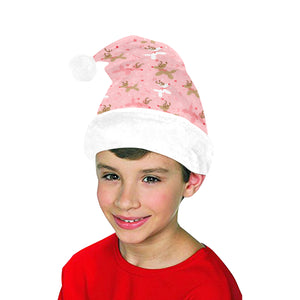 Pink Reindeer Balloon Dog Santa Hat