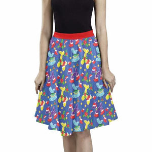 Holiday Balloon Animal Classics Pleated Midi Skirt