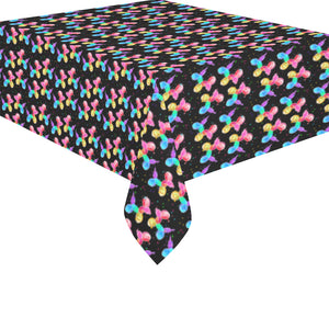 "Rainbow Dogs Cotton Linen Tablecloth 52""x 70"""