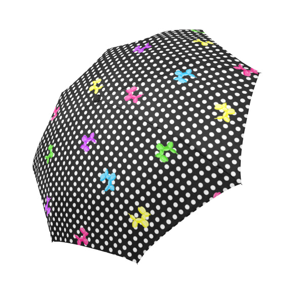 Polka-Dogs Auto Fold Umbrella