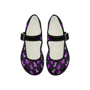 purpletoe.fw Mila Satin Women's Mary Jane Shoes (Model 4808)