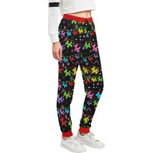 BlackLights Women's All Over Print Sweatpants (Model L11)