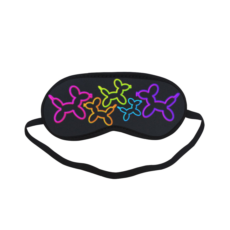 Neon Dogs Sleeping Mask