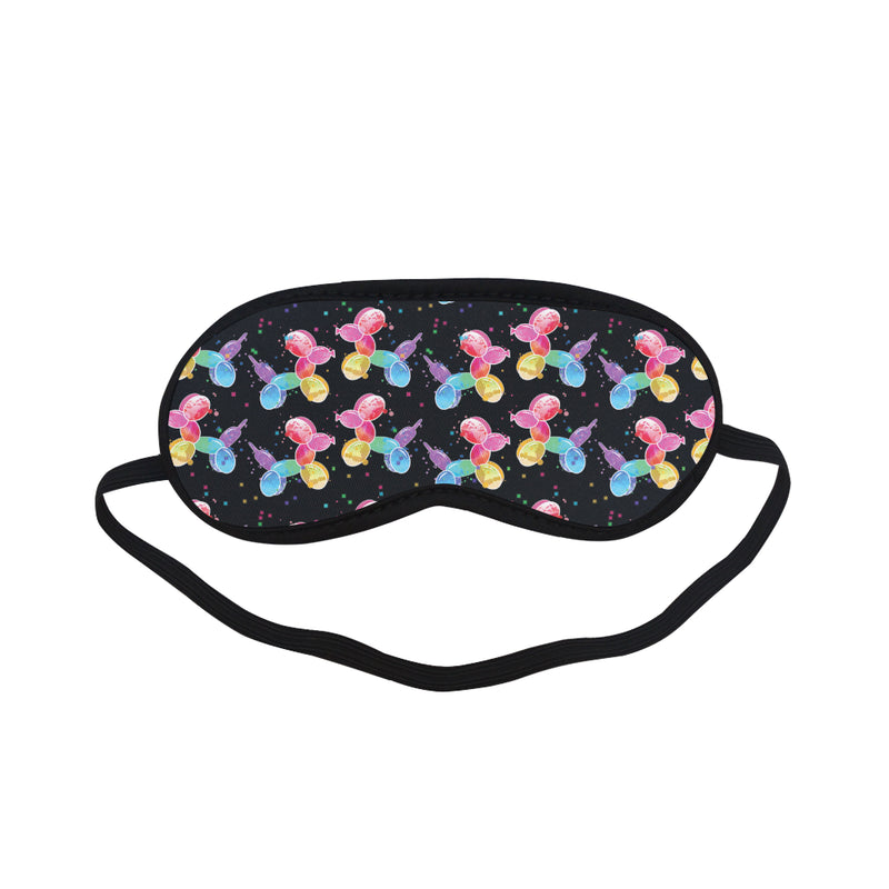 Watercolor Balloon Dogs Sleeping Mask