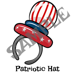 Patriotic Hat Balloon