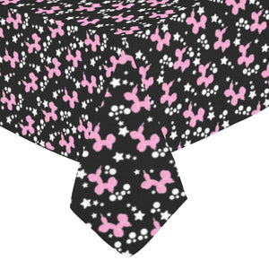 "Dogs & Stars Cotton Linen Tablecloth 52""x 70"""