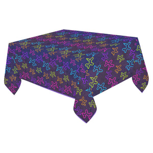 Neon Dogs Cotton Linen Tablecloth