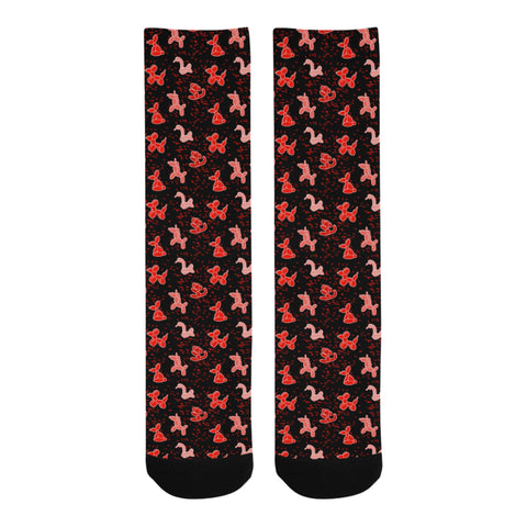 Red Balloon Animals Socks