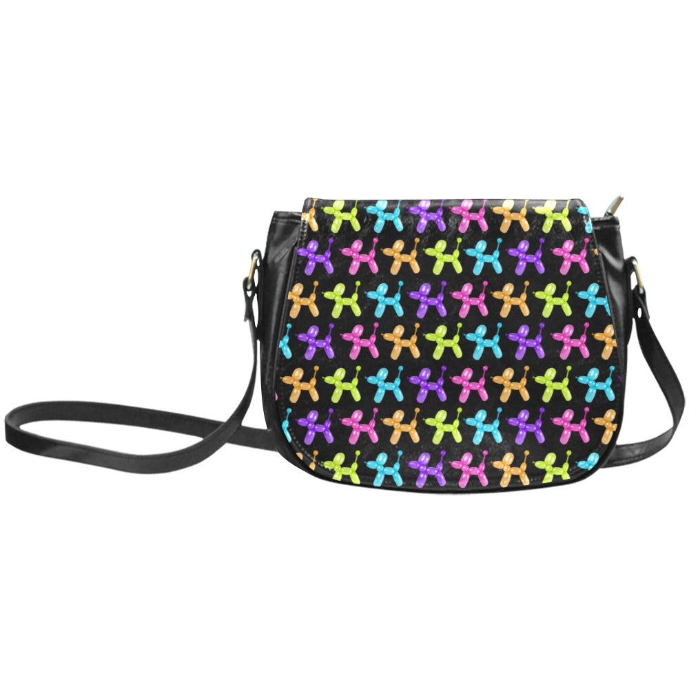 Color Pop Balloon Dog Classic Saddle Bag