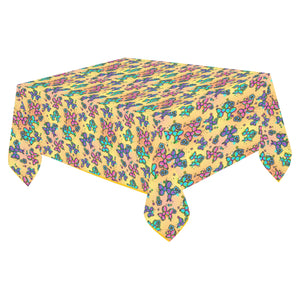 "Graffiti Dogs Yellow Cotton Linen Tablecloth 52""x 70"""