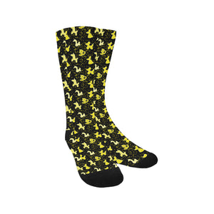 Yellow Balloon Animals Socks