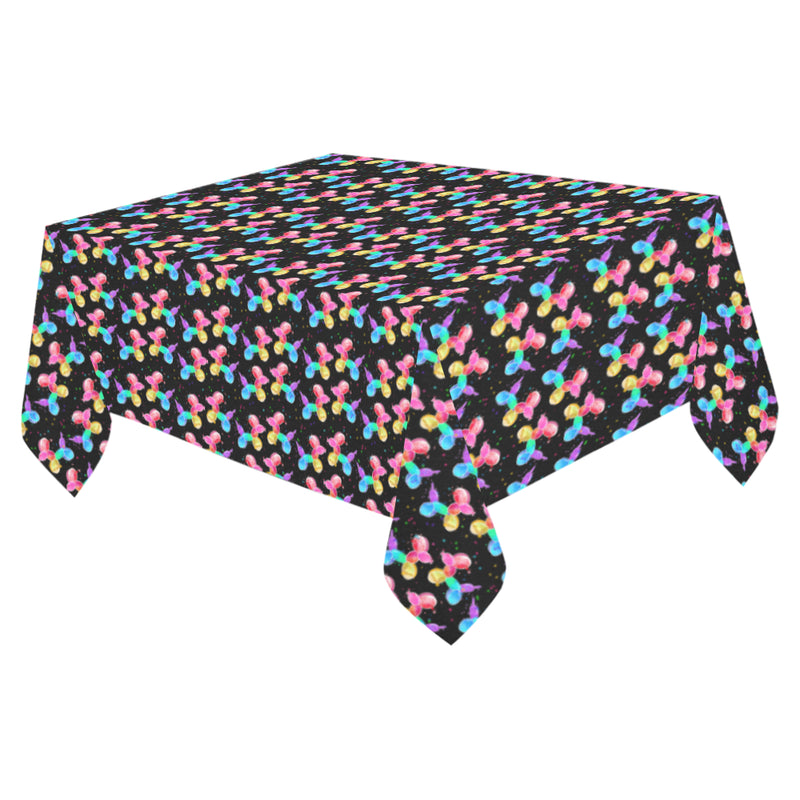 Rainbow Dogs Cotton Linen Tablecloth 52