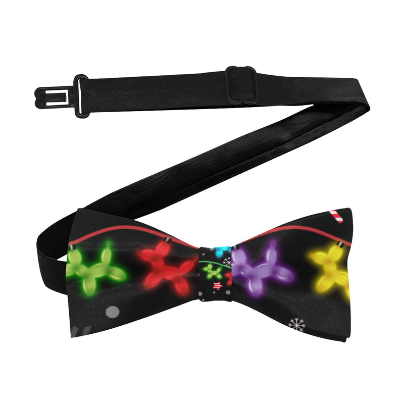 Black Lights Holiday Balloon Dogs Bow Tie