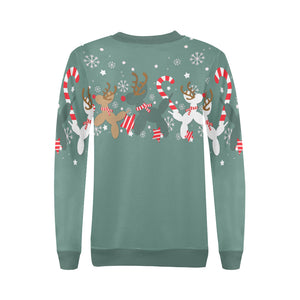 Green Reindeer Balloon Dogs Sweatshirt