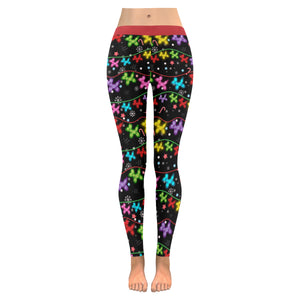 Balloon Dog Christmas Lights Leggings