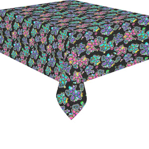 Graffiti Dogs Black Cotton Linen Tablecloth