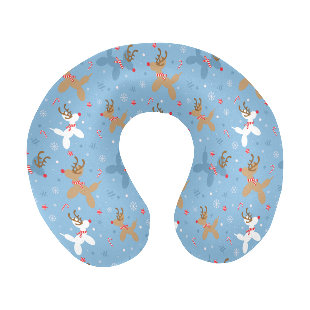 Reindeer Balloon Dogs Travel Pillow