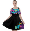Memphis Balloon Dogs Cut Out Shoulder Chiffon Dress