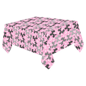 "Retro Dogs Cotton Linen Tablecloth 52""x 70"""