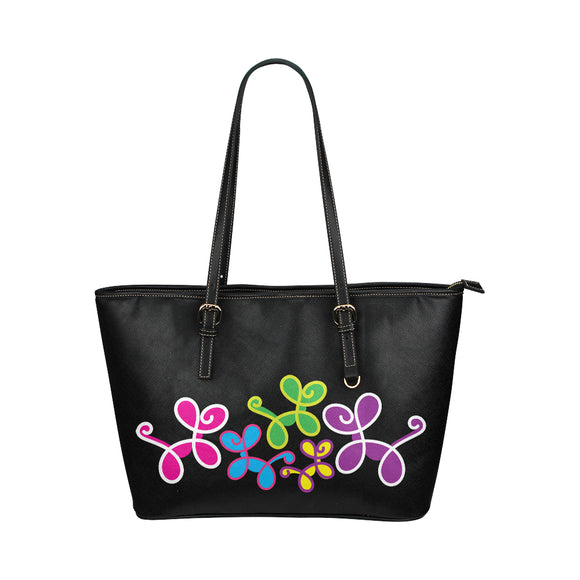 Swirly Pups Purse - black