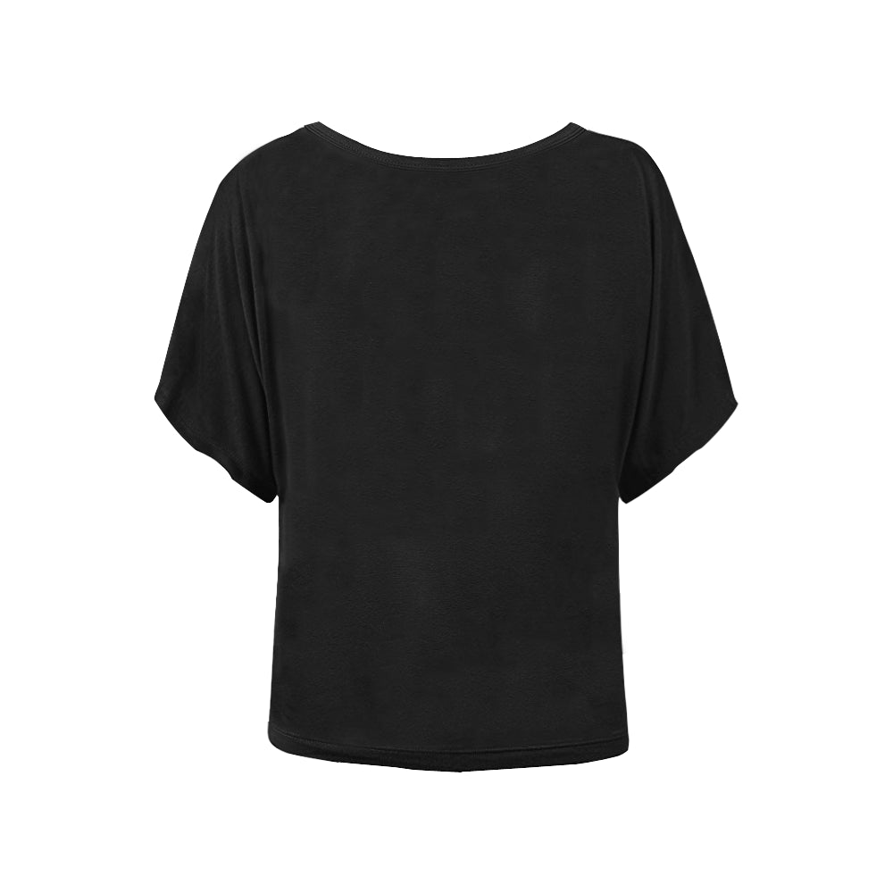 Classics on black Women's Batwing Blouse